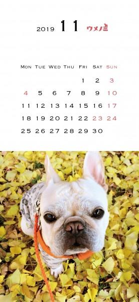 スマホこうめさんカレンダー2019.11