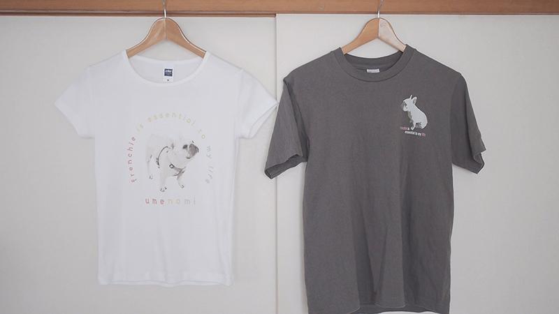 フレンチブルドッグ柄Tシャツ