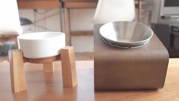 犬用猫用シンプルでおしゃれな食器台2