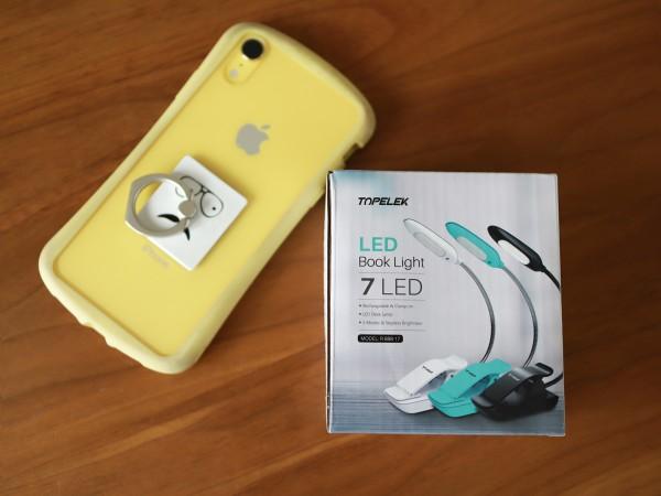 持ち運び可能充電式小型ブックライト