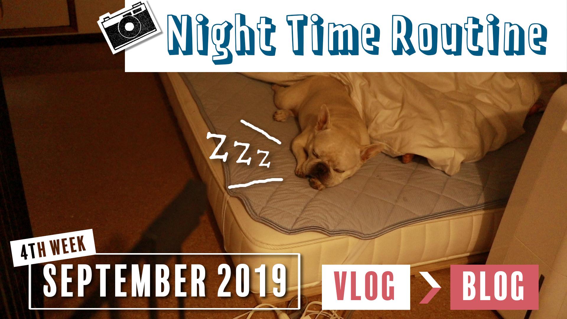 2019年9月4週目ナイトルーティンVlog動画のブログ