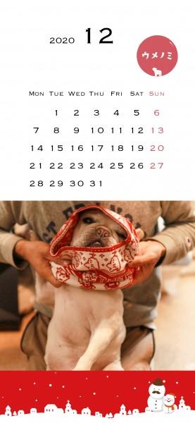スマホこうめさんカレンダー2020.12