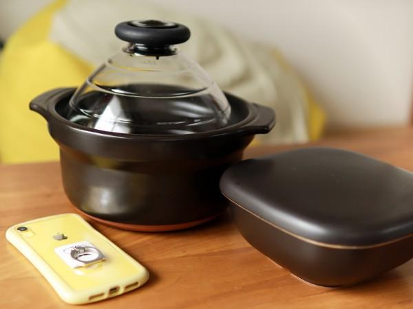 ハリオ土鍋フタがガラスのご飯釜とおひつ