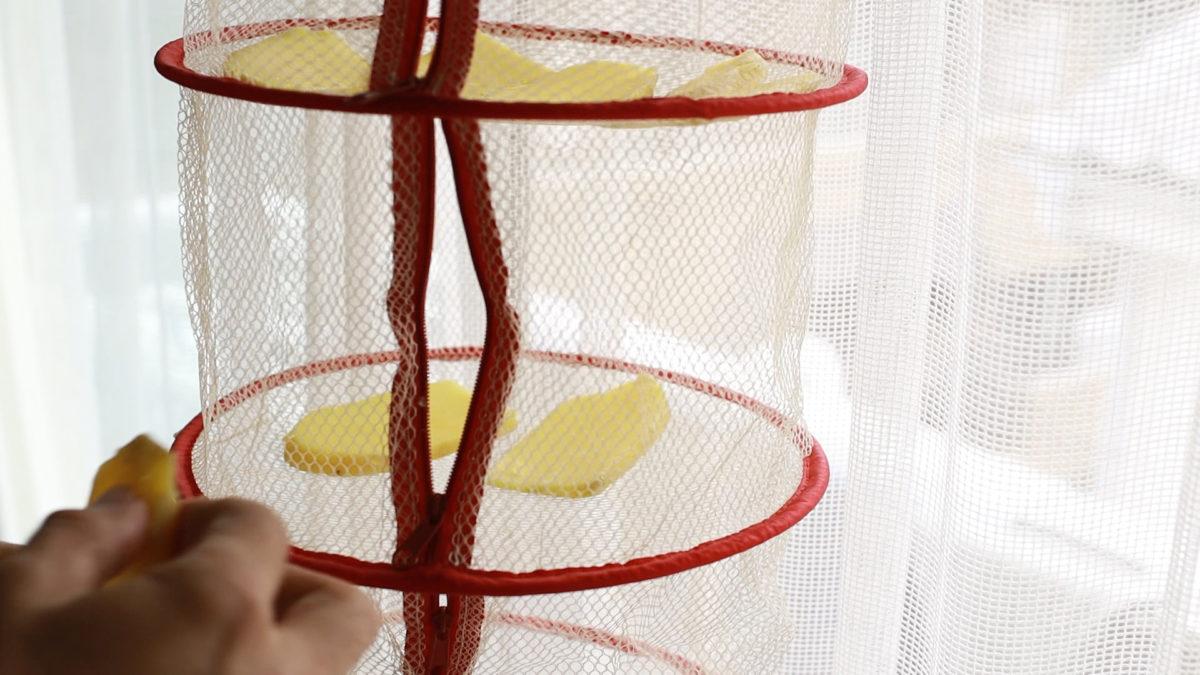 赤い干し網かわいいネット